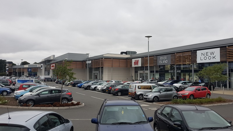 Fashion stores at A1 Retail Park