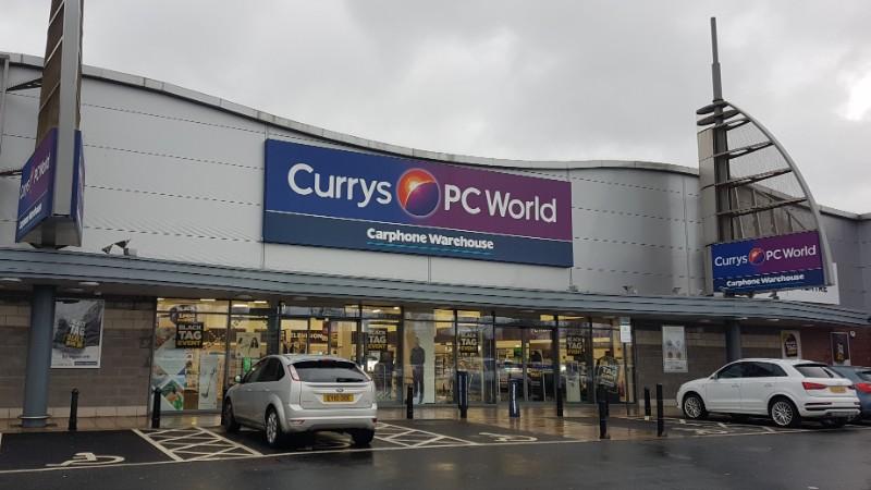 Currys store at Castle Vale Retail Park, Birmingham