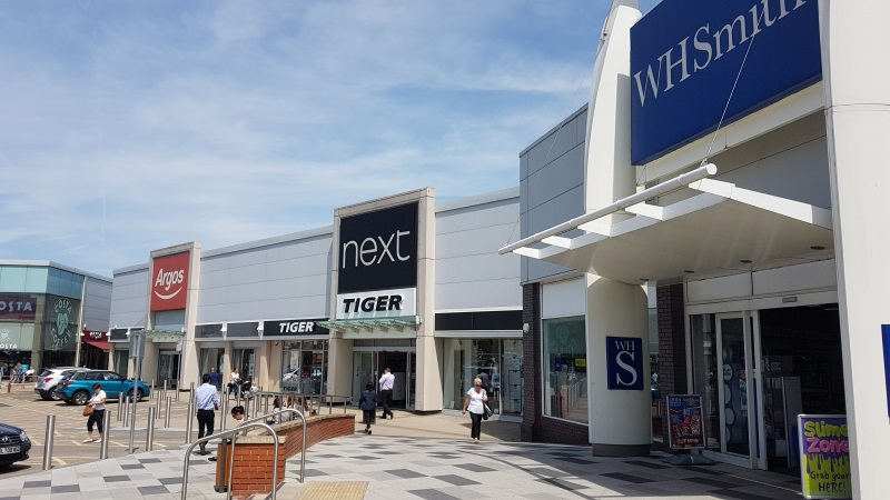 Argos, Next and WH Smith at Borehamwood Shopping Park