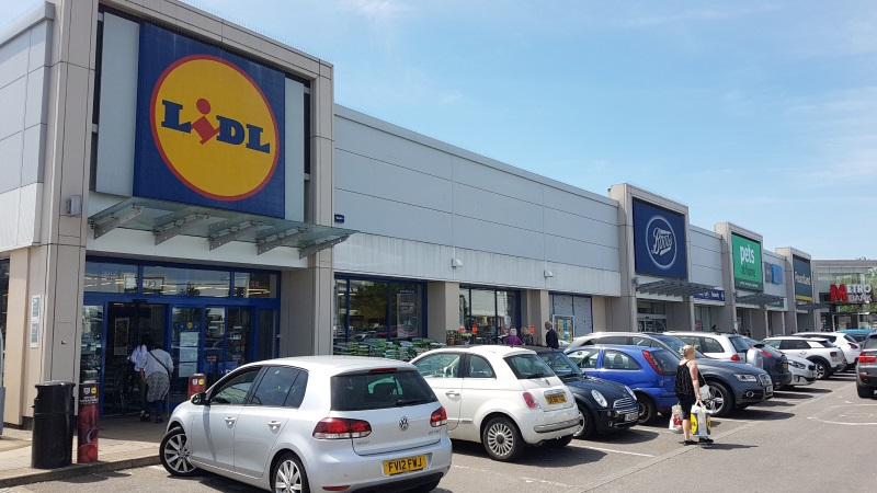 Lidl and Boots stores