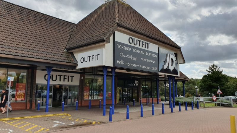 Outfit and JD stores at Chelmer Village, Chelmsford