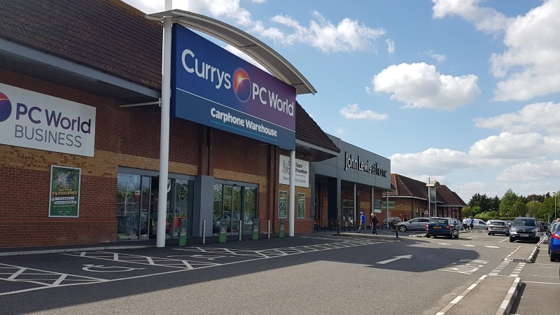 Currys PC World and John Lewis at Chichester Retail Park