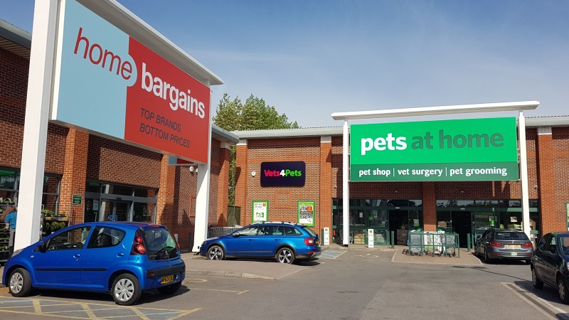 Home Bargains and Pets at Home stores