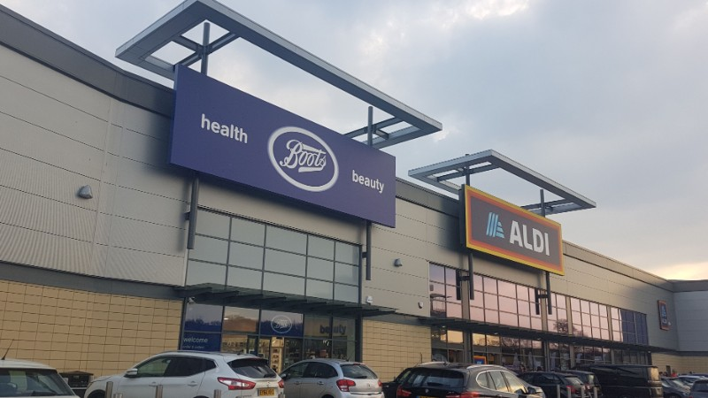 Boots and Aldi stores