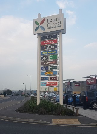 Epping Forest Retail Park totem sign