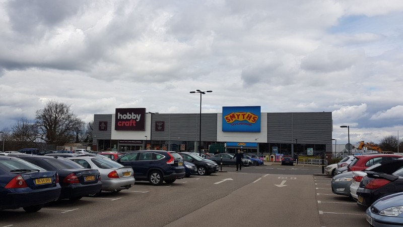 Hobbycraft and Smyths Toys at Kingsway Retail Park