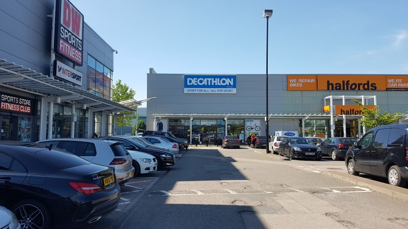 DW Sports, Decathlon and Halfords at White Lion Retail Park