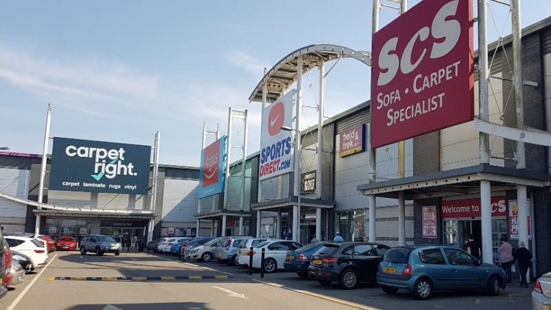 Durham City Retail Park stores