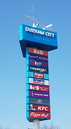Totem sign at Durham Retail Park