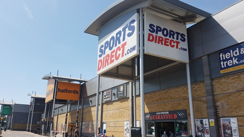 Sports Direct and Halfords at Enfield Retail Park