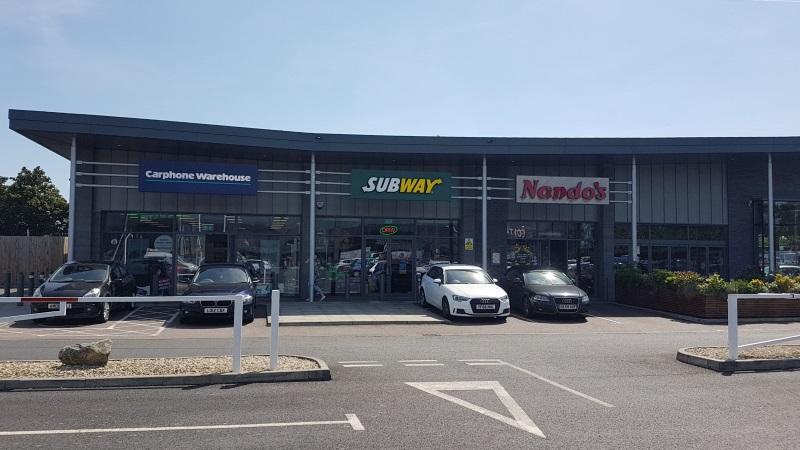Carphone Warehouse, Nandos and Subway at Enfield Retail Park