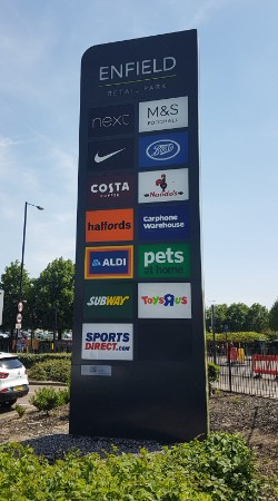 Enfield Retail Park totem sign