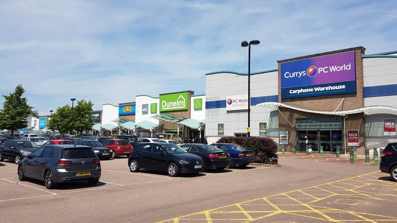 Dunelm and Currys PC World stores at Friern Bridge Retail Park