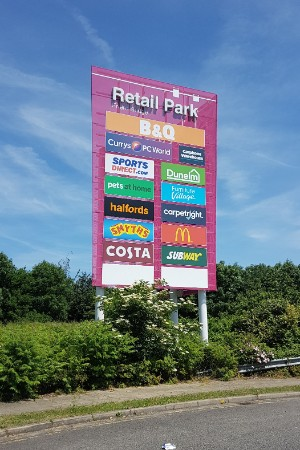 Friern Bridge Retail Park totem sign