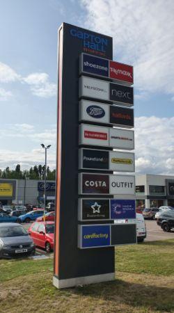 Gapton Hall Retail Park - signage