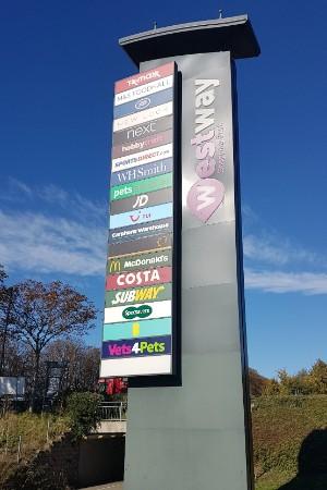 Westway Cross retail park sign