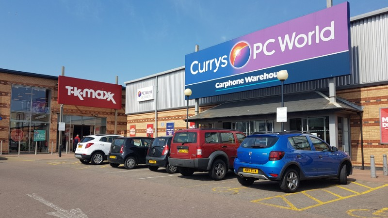 Currys PC World and TK Maxx at Anchor Retail Park, Hartlepool