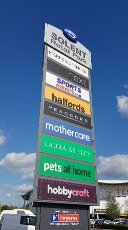 Solent Retail Park totem sign