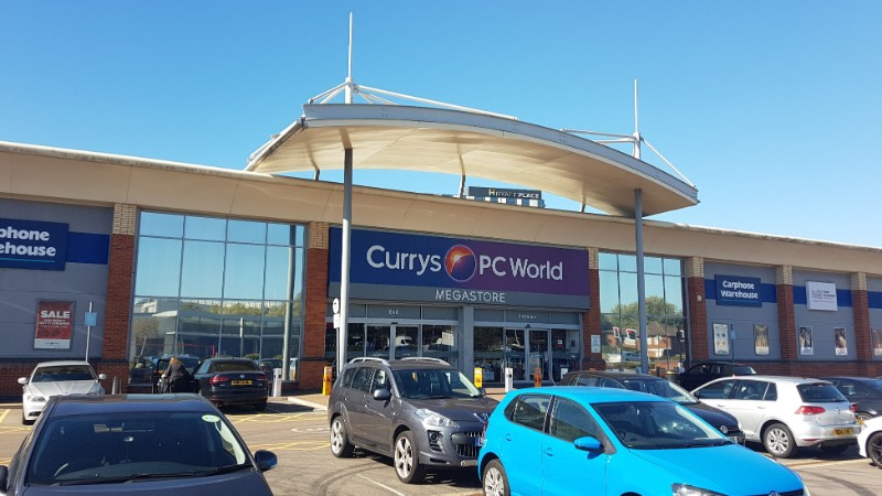 Currys PC World store at Hayes Bridge Retail Park