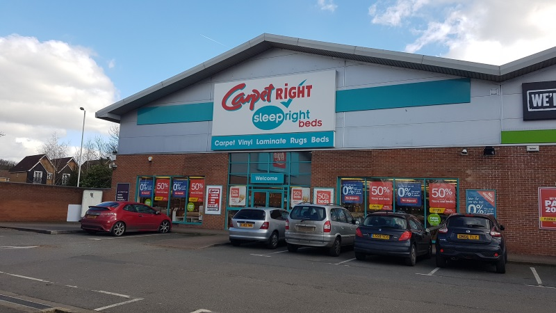 Carpetright store at Apsley Mills Retail Park