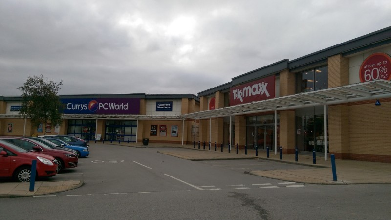 TK Maxx and Currys PC World at Keighley Retail Park