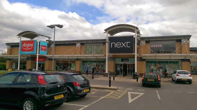 Argos and Next at St James Retail Park, Knaresborough