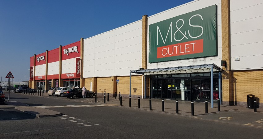 M&S and TK Maxx in Byker