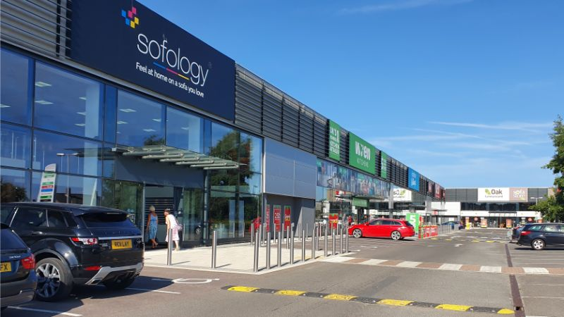 Shops at Sprowston Retail Park in Norwich