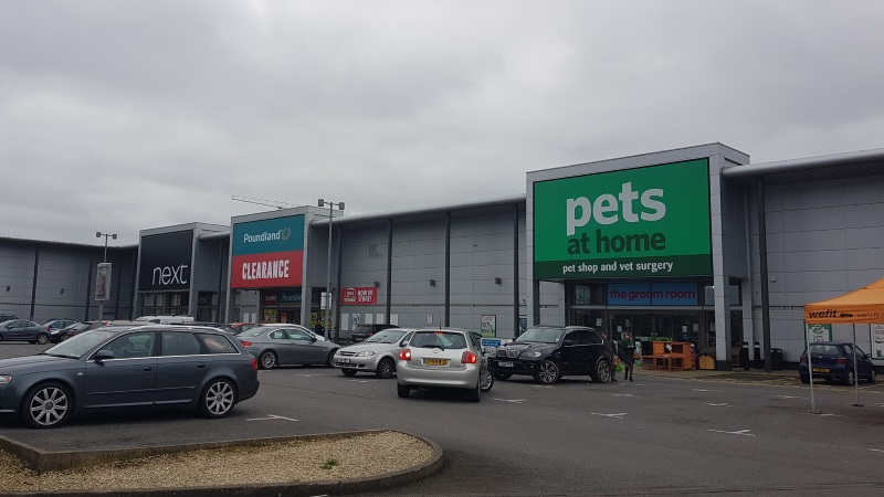 Pets at Home, Poundland and Next at Brunel Retail Park, Reading