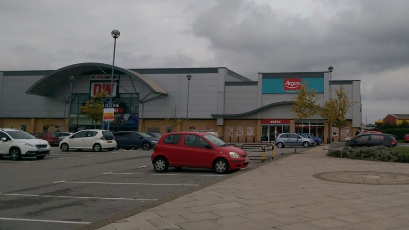 DW and Argos stores at Three Lakes Retail Park, Selby