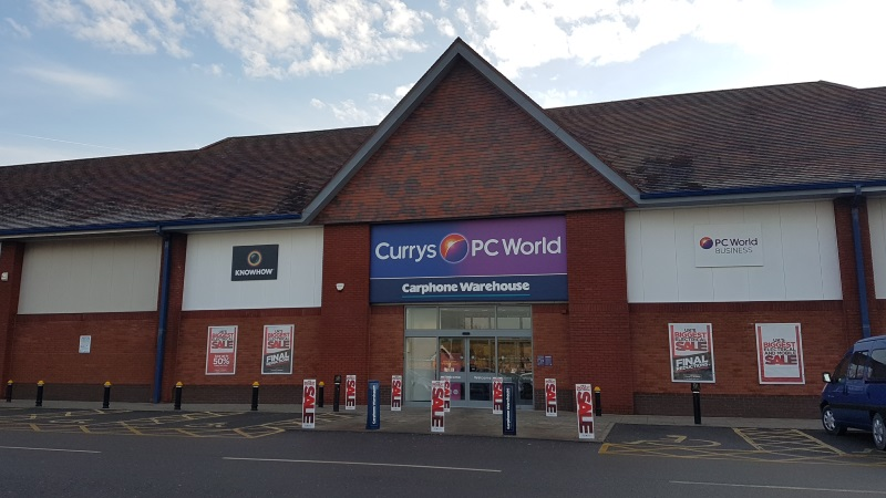 Currys PC World and Carphone Warehouse at Meole Brace Retail Park, Shrewsbury