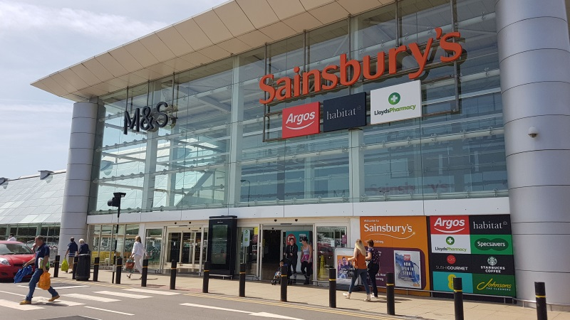 M&S and Sainsbury's stores at Colney Fields Shopping Park