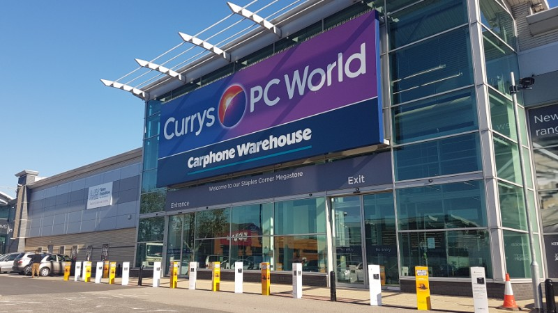 Currys PC World at Staples Corner, London