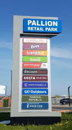 Pallion Retail Park sign