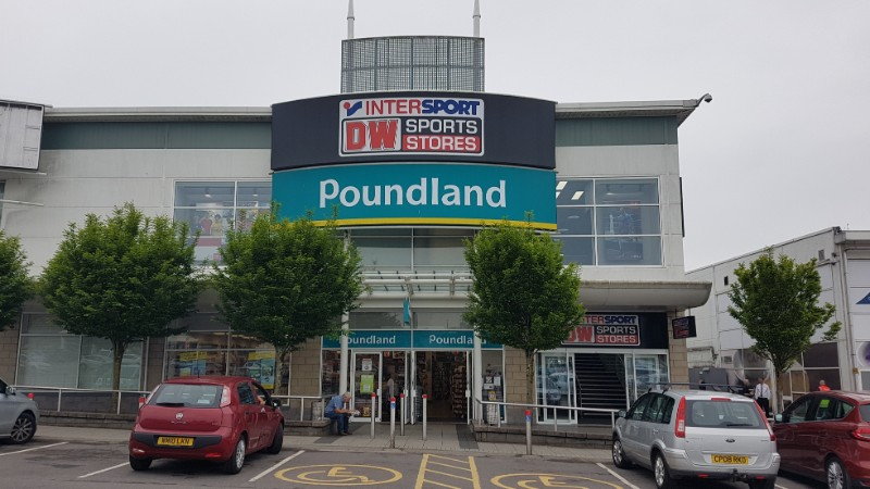 Poundland and DW Sports at Parc Fforestfach, Swansea