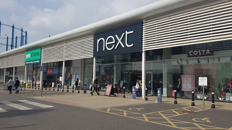 Next and Pets at Home stores