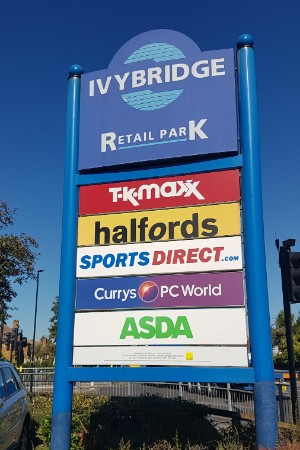 Ivybridge Retail Park totem sign